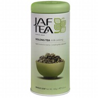 Чай зеленый лист. JAF TEA Milk Oolong SC 100г в ж/б