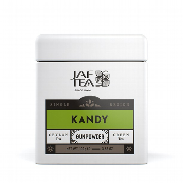 Чай зеленый лист. JAF TEA Kandy Gunpowder SR 100г в ж/б