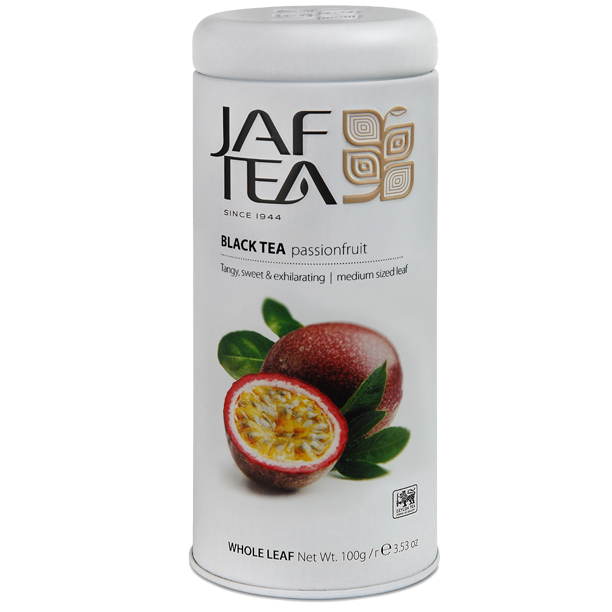 Чай черный лист. JAF TEA  Passion Fruit PC 100г в ж/б