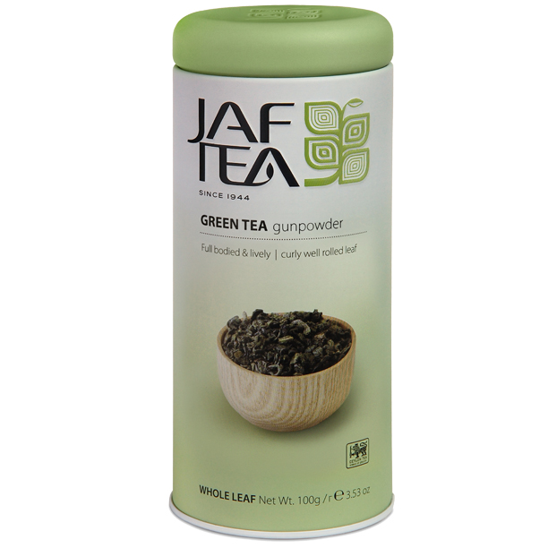 Чай зеленый лист. JAF TEA Gunpowder SC 100г в ж/б