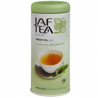 Чай зеленый лист. JAF TEA Mint SC 100г в ж/б