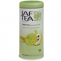 Чай зеленый лист. JAF TEA Soursop & Banana SC 100г в ж/б
