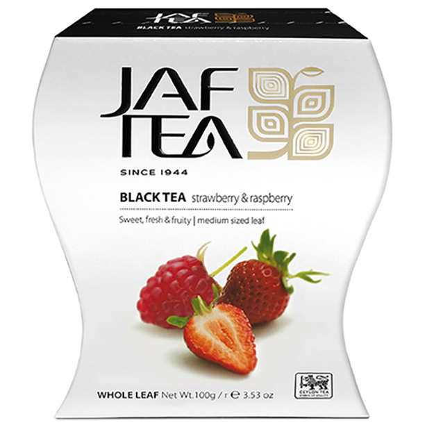 Чай черный лист. JAF TEA Strawberry & Raspberry PC 100г
