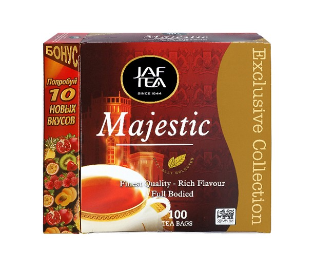 Чай черный пакет. JAF TEA Majestic EC 2Гх110