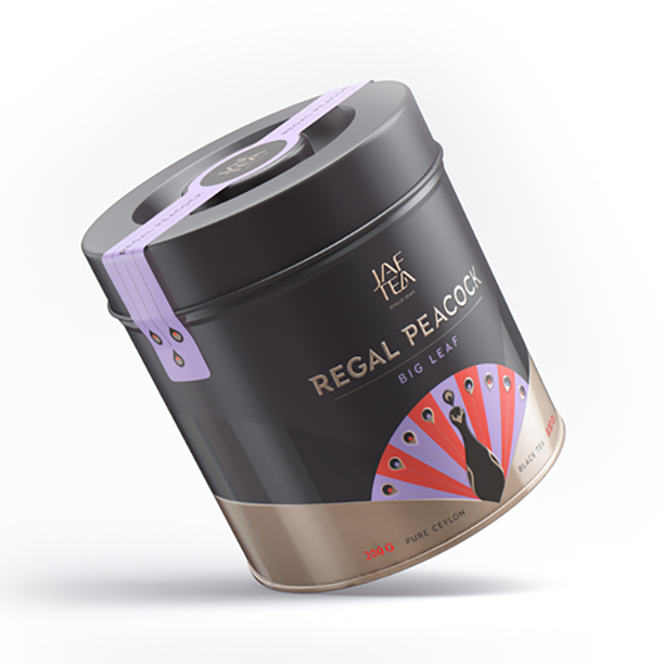 Чай черный лист. JAF TEA Regal Peacock Big Leaf RP 200г в ж/б