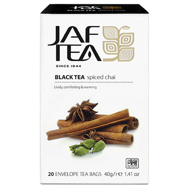 Чай черный пакет. JAF TEA Spiced Chai PC 20*2г