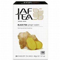Чай черный пакет. JAF TEA Ginger Ceylon PC 20*2г