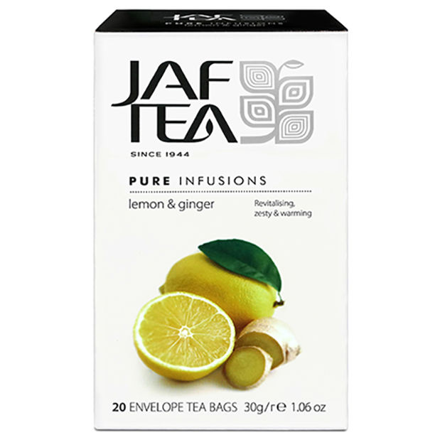 Фито-чай  JAF TEA  Lemon & Ginger PI 20*1,5г