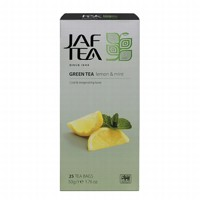 Чай зеленый пакет. JAF TEA Lemon & Mint SC 25*2г