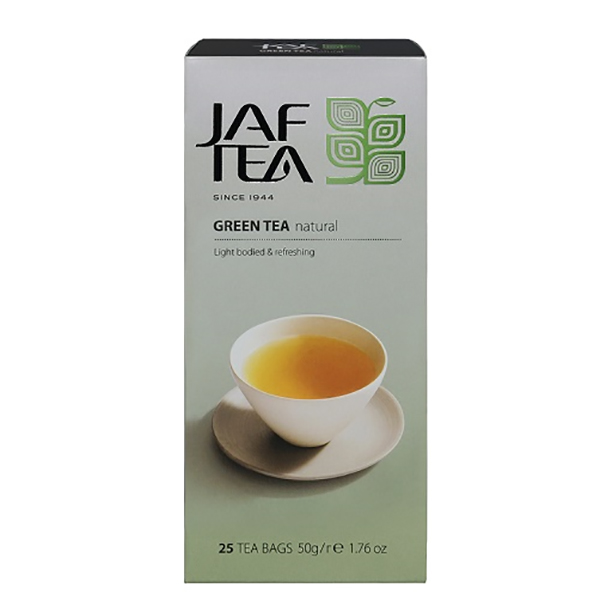Чай зеленый пакет. JAF TEA Natural SC 25*2г