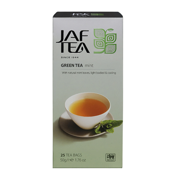 Чай зеленый пакет. JAF TEA Mint SC 25*2Г