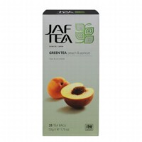 Чай зеленый пакет. JAF TEA Peach & Apricot SC 25*2г